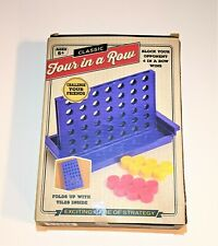 CLASSIC MINI FOUR IN A ROW Game Folding Travel Game