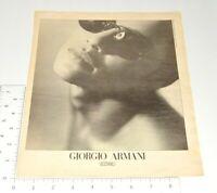 Giorgio Armani Vintage Print Ad 1990 Fashion Occhiali Glasses Sunglasses