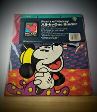 Vintage Mead All in one Binder Perils Of Mickey 3 Ring Binder