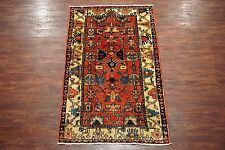 Persian 4X7 Bakhtiari Antique Tribal Hand-Knotted Wool Area Rug Oriental Carpet