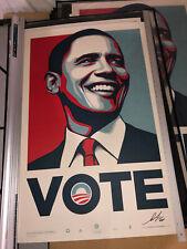 Shepard Fairey Obey Giant Barack Obama VOTE Print Poster 108/5000 SIGNED