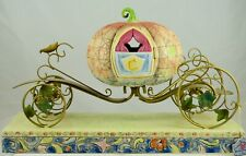 Disney's - Jim Shore Designed Cinderella Pumpkin Carriage Set Stone Resin Rare