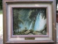 """Oil painting titled """"Aguas De Michocan"""" by Alfredo M. Gomez-1993-Wateralls-NICE!"""