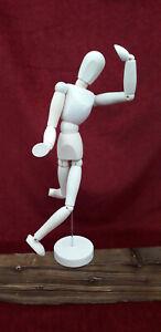 Mannequin articulé en bois sur socle pour artiste dessin