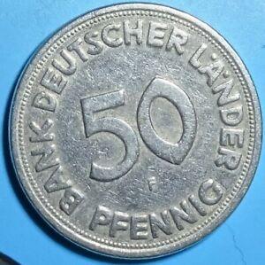 50 Pfennig 1949 F Bank Deutscher Länder