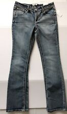 Juniors Girl's Skinny Boot Mid-Rise Adjustable Waist Size 16 Jeans by Mudd, NWT!