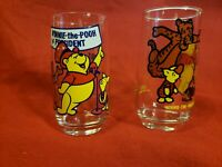 Disney Winnie The Pooh and Friends Collectible Glasses/Set of 2 Unique