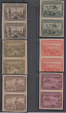 Croatia NDH prints printed in Uruguay-Montevideo imperforated 1951 no gum