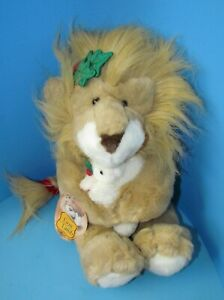 """Vtg 1994 The Lion and the Lamb Holiday Plush w/Tag by Commonwealth Toys 13"""" L@@K"""