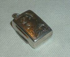 More details for antique solid silver vinaigrette by edward smith. birmingham 1863