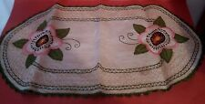 Napperon ancien Broderie Antique French Doily