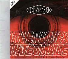 Def Leppard-When Love&Hate Collide cd single