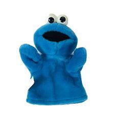 """Fisher Price Sesame Street Soft Plush COOKIE MONSTER 10"""" Hand Puppets 2004"""