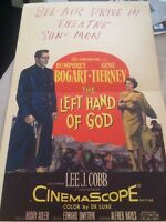 HUMPHREY BOGART ONE-OF-A-KIND 1953 DRIVE-IN WINDOW CARD FOR THE LEFT HAND OF GOD