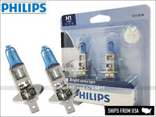 NEW! H1 PHILIPS Crystal Vision Ultra Xenon HID LOOK Headlight BULBS PAIR 4000K