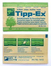 30 hojas TIPP-EX Papel Corrector para Reciclar Máquina de escribir N º 1410