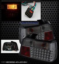 Pair Smoke LED Tail Lights For BMW 4 Door E36 3 Series 1992-1998 LED 1 yr Warran