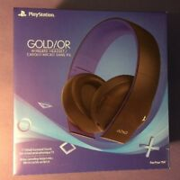 Sony GOLD Wireless Stereo Headset (Working for PS4 / PS3 / PS VITA) NEW