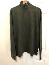 Polo Ralph Lauren men's XL green half zip pullover sweater shirt long sleeve