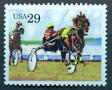 2758 MNH 1993 29c Harness Sports Horses Equestrian Kentucky Derby riding jockey