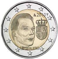 Luxemburg 2 Euro 2010 Wappen des Großherzog Gedenkmünze prägefrisch