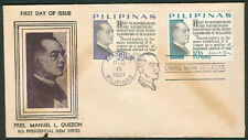 1967 Philippines MANUEL L. QUEZON 6th PRESIDENTIAL GEM SERIES First Day Cover B