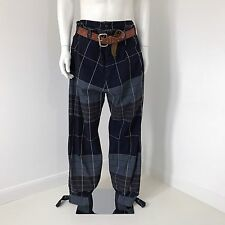 """RARE Vivienne Westwood Man Label """"Double Front"""" Tartan Baggy Pantaloni Pigiama"""