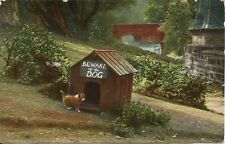 """1907 """"Beware of the Dog"""" Cute Dog by Kennel Wildt & Kray Postcard E.C.Series 998"""