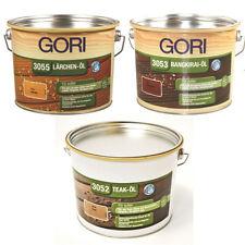 GORI Holz-Pflegeöl Teak Lärche Bangkirai Imprägnierung 750 ml - 2,50 Liter *NEU*