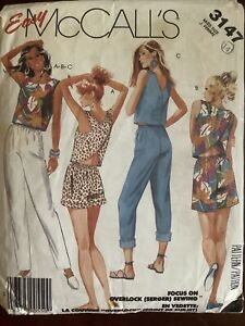 Vintage MCCALL'S Misses Top Pants & Shirts Pattern 3147  Size 14