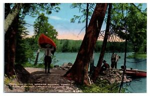 Portaging in Superior National Forest, MN Postcard *5D