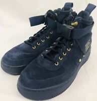 Nike AF1 Mid Urban Utility FTWR Navy Blue Goddess of Victory Size 5.5 Boys Boots