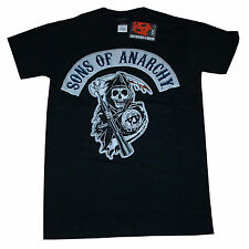 Sons Of Anarchy Officiel Couleur Grim Reaper Crest Logo Charlie Hunnam T 15A