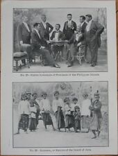 1905 Print: 'Governors & Javanese - Philippine Islands'