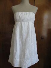 BCBG MAX AZRIA women's white evening strapless dress size 8 NWT