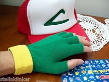 Ash Ketchum Trainer Costume - POKEMON GO  Hat & Gloves Set  cosplay
