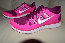 New Nike Womens Free 5.0 Run Running Shoes 580591-616 sz 7 Raspberry Red, Pink
