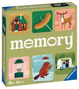 20613 Ravensburger Camping Adventures Large Memory Snap Match Game Children 3yr+