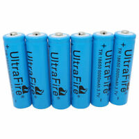 6X Batterie 18650 5000mAh 3.7V Li-ion Rechargeable Battery for Flashlight Torch