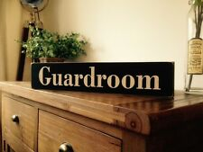 Guardroom Vintage Old LOOK Sign Military RAF War Guard Army Ww1 Ww2 Base