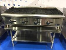 """NEW 48"""" RADIANT CHAR BROILER WITH STAINLESS EQUIPMENT STAND PACKAGE DEAL GAS"""