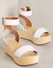 1b74c32d773f NEW Kelsi Dagger Brooklyn KDB Poetry Platform Clog Sandals Size 10 White