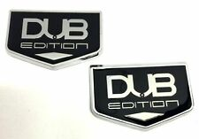 x2 New Chrysler / Dodge DUB Edition Emblem Badge Replaces OEM Mopar Hood / Trunk