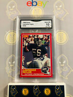 1989 Score Lawrence Taylor #192 - 10 GEM MINT GMA Graded Giants Football Card