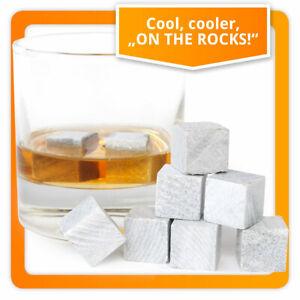 9 Stück Whisky Steine aus Speckstein - Whiskey Stones Eiswürfel Kühlsteine