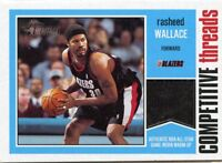 RASHEED WALLACE 2001-02 Topps Heritage Competitive Threads All-Star Game-Worn