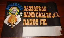 "SASSAFRAS ~ BAND CALLED O ~ RANDY PIE ~ ORIGINAL CONCERT POSTER 1975 ~ 20"" x 30"""