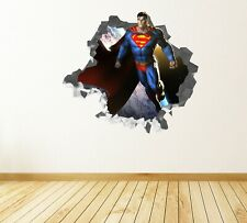 Batman VS Superman 3D Smashed Wall Sticker Decal Home Decor Art Mural J1219