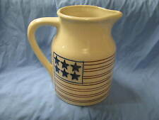 New listing Hartstone Pottery Stoneware Patriotic Stars Stripes Large Pitcher