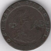 1797 George III Stamped Twopence | Pennies2Pounds